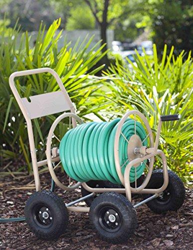 Liberty-Garden-Products-870-M1-2-Industrial-300-4-Wheel-Garden-Hose-Reel-Cart-Tan-0-0