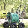 Liberty-Garden-Products-871-1-Residential-Grade-4-Wheel-Garden-Hose-Reel-Cart-with-250-Foot-Hose-Capacity-0-0