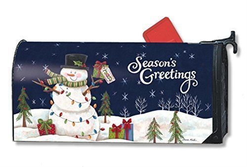 MailWraps-Snowman-Lights-Mailbox-Cover-01240-by-MailWraps-0