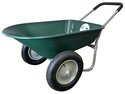 Marathon-Dual-Wheel-Residential-Yard-Rover-Wheelbarrow-Green-5-Cubic-Foot-Poly-Tray-0