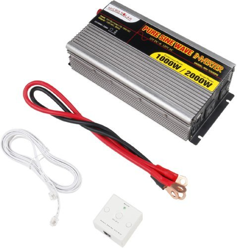 MicroSolar-12V-1000W-Peak-2000W-Pure-Sine-Wave-Inverter-with-Battery-Cable-Remote-Wire-Controller-0