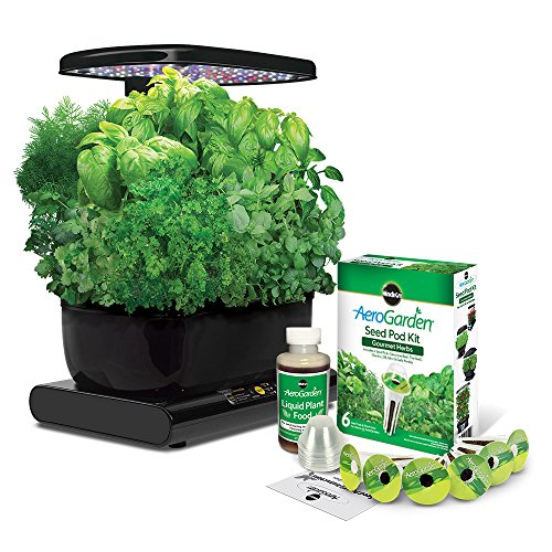 Miracle-Gro-AeroGarden-Harvest-with-Gourmet-Herb-Seed-Pod-Kit-Black-0