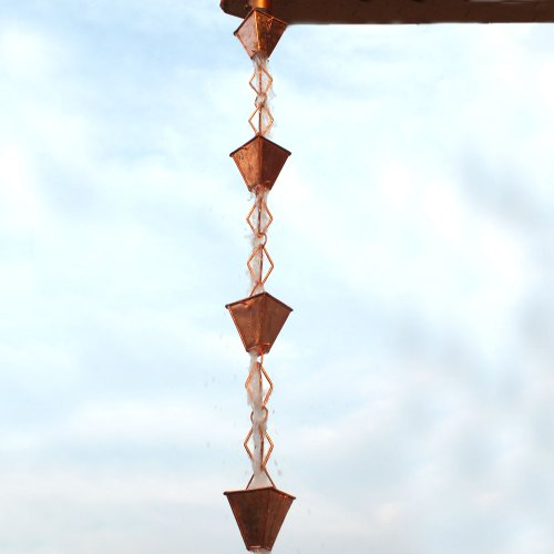 Monarch-Rainchains-Pure-Copper-Heavy-Duty-Heirloom-Rain-Chain-8-12-Feet-0-1