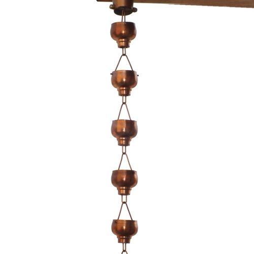Monarch-Rainchains-Pure-Copper-Hibiki-Rain-Chain-8-12-Feet-0
