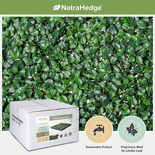 NatraHedge-Artificial-Boxwood-Hedge-Mat-20x-20-Panels-12-Pack-0