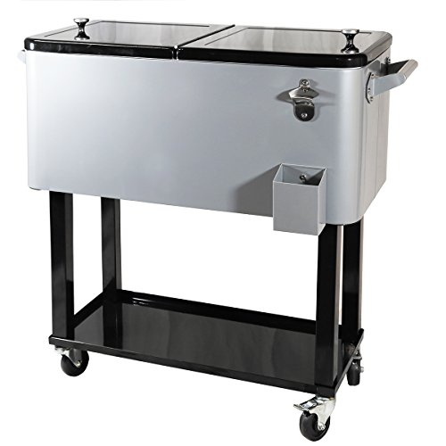 New-Clevr-Outdoor-80quart-Party-Portable-Rolling-Cooler-Ice-Chest-0-0