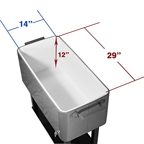 New-Clevr-Outdoor-80quart-Party-Portable-Rolling-Cooler-Ice-Chest-0-1