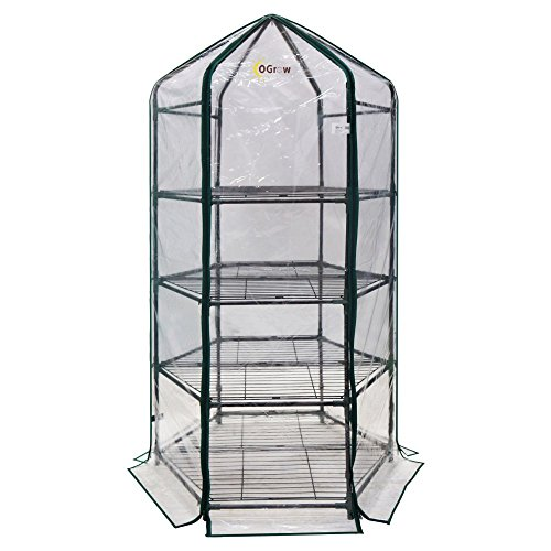 Ogrow-Ultra-Deluxe-4-Tier-Hexagonal-Flower-Planthouse-Greenhouse-0