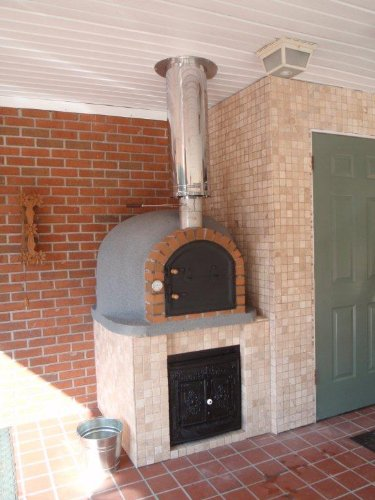 Outdoor-Pizza-Oven-Wood-Fired-Insulated-w-Brick-Arch-Chimney-0-0