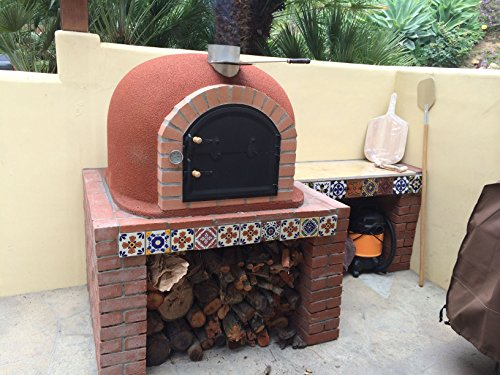 Outdoor-Pizza-Oven-Wood-Fired-Insulated-w-Brick-Arch-Chimney-0-1