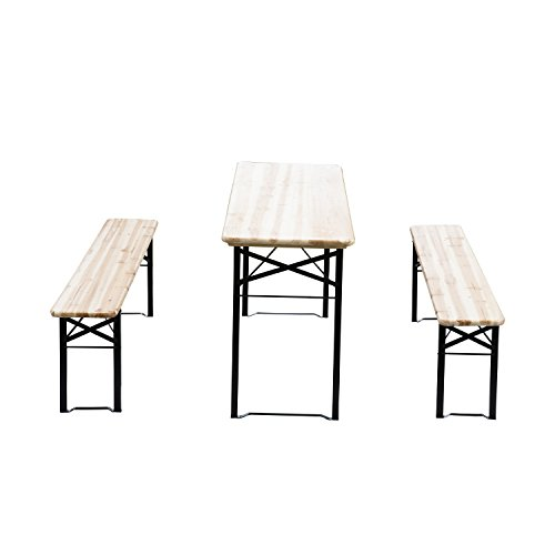 Outsunny-6ft-Wooden-Folding-Picnic-Table-Set-with-Benches-0-0