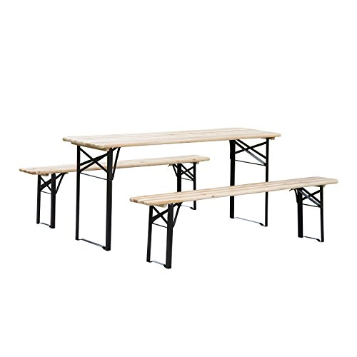 Outsunny-6ft-Wooden-Folding-Picnic-Table-Set-with-Benches-0