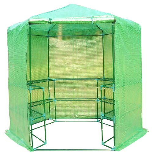 Outsunny-Portable-3-Tier-Shelf-Hexagonal-Walk-In-Greenhouse-75-Feet-0