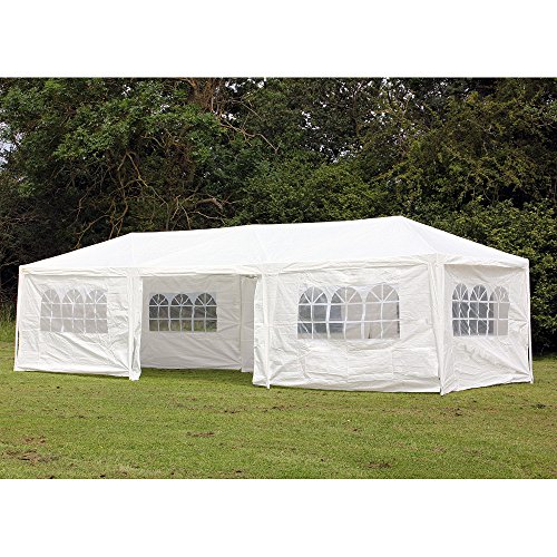 Palm-Springs-10-x-30-Foot-White-Party-Tent-Gazebo-Canopy-with-Sidewalls-0