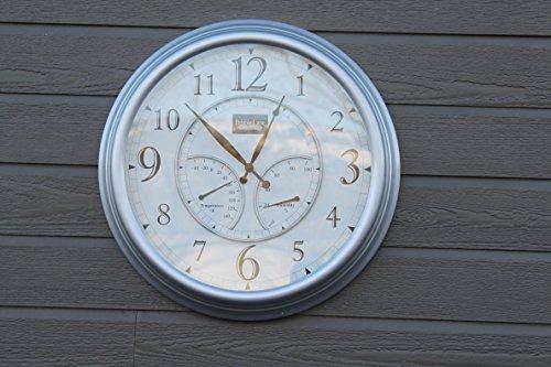 Pebble-Lane-Living-24-Outdoor-Atomic-Clock-Pewter-0