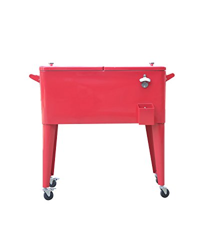 Permasteel-PS-203-RED-2-Patio-Cooler-with-Insulated-Basin-80-Quart-Red-0