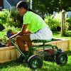 Plow-Hearth-Rolling-Scoot-N-Do-Garden-Seat-Powder-Coated-Tubular-Steel-Green-54L-x-17L-x-27H-0-0