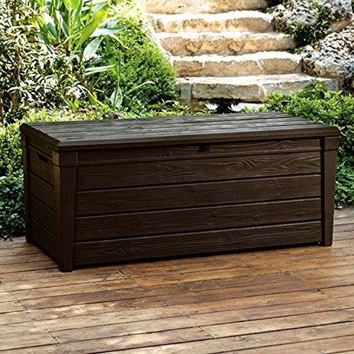 Pool-Deck-Storage-Box-and-Bench-is-2-in-1-Multifunctional-Patio-Seat-Resin-UV-Protected-120-Gallon-Pool-and-Yard-Container-for-Cushions-Table-Covers-Candles-Beach-Toys-0-1