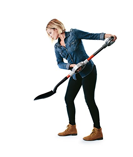 Professional-Grade-Ergonomic-Round-Point-Shovel-with-Adjustable-Center-Handle-0-0
