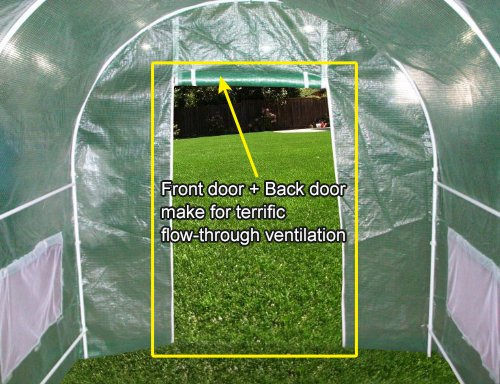 Quictent-2-Doors-Heavy-Duty-20x10x6-Portable-Greenhouse-Large-Walk-in-Green-Garden-Hot-House-8-vents-2-doors-Perfect-Flow-through-Ventilation-0-0