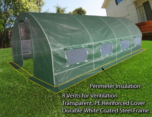 Quictent-2-Doors-Heavy-Duty-20x10x6-Portable-Greenhouse-Large-Walk-in-Green-Garden-Hot-House-8-vents-2-doors-Perfect-Flow-through-Ventilation-0