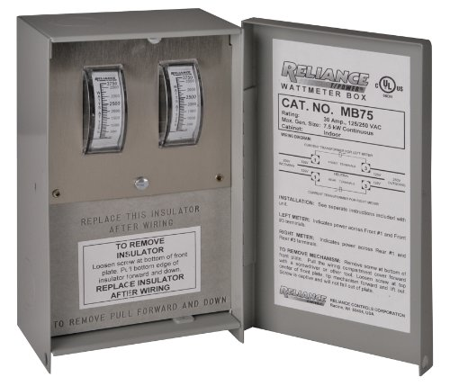 Reliance-Controls-Corporation-MB75-Watt-Meter-Box-for-Generators-Up-to-8000-Running-Watts-0