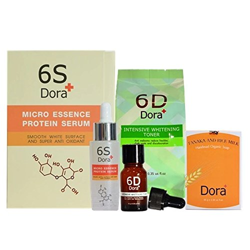 SET-6D-DORA-TONER-WHITENING-TANAKA-SOAP6S-SERUM-REDUCE-MELASMA-FRECKLES-0