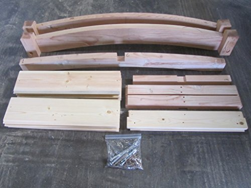 SamsGazebos-Zen-Japanese-Style-Wood-Garden-Bridges-6-Feet-Brown-0-1