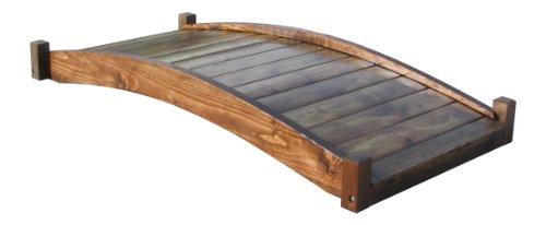 SamsGazebos-Zen-Japanese-Style-Wood-Garden-Bridges-6-Feet-Brown-0