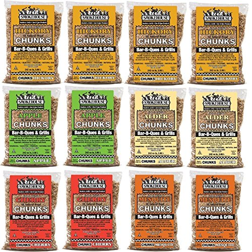 Smokehouse-Products-All-Natural-Flavored-Wood-Smoking-Chunks-12-Pack-Assorted-Flavors-0