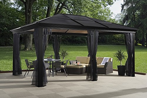 Sojag-500-5153200-500-6153200-8mm-2-Track-No53-Sedona-Hard-Top-Sun-Shelter-12-by-16-Dark-Brown-0