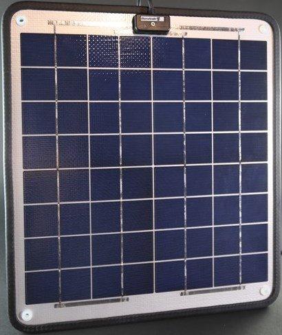 Solar-Charger-166-Watt-1-Amp-Boat-RV-Marine-Trolling-Motor-Solar-Panel-Semi-Flexible-Self-Regulating-12-Volt-No-experience-Plug-Play-Design-Dimensions-141-L-x-157-W-x-14-Thick-10-cable-0-1