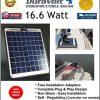 Solar-Charger-166-Watt-1-Amp-Boat-RV-Marine-Trolling-Motor-Solar-Panel-Semi-Flexible-Self-Regulating-12-Volt-No-experience-Plug-Play-Design-Dimensions-141-L-x-157-W-x-14-Thick-10-cable-0