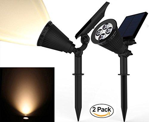 Solar-Spotlights-Kiwii-Warm-Light-2-in-1-Adjustable-4-LED-Wall-Landscape-Solar-Lights-with-Automatic-OnOff-Sensor-2-Pack-0
