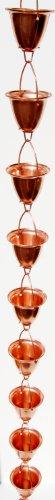 Stanwood-Rain-Chain-Large-CupBell-Copper-Rain-Chain-8-Feet-0