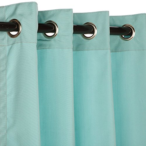 Sunbrella-Outdoor-Curtain-with-Nickle-Grommets-Canvas-Glacier-50×96-0