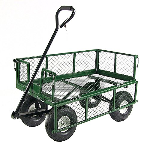 Sunnydaze-Utility-Cart-with-Removable-Folding-Sides-400-Pound-Weight-Capacity-Multiple-Colors-0-0