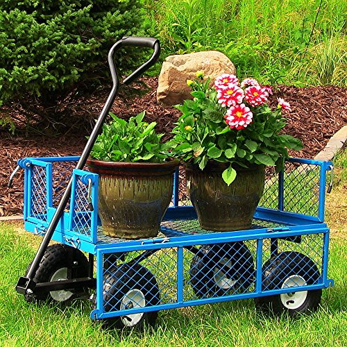 Sunnydaze-Utility-Cart-with-Removable-Folding-Sides-400-Pound-Weight-Capacity-Multiple-Colors-0-1