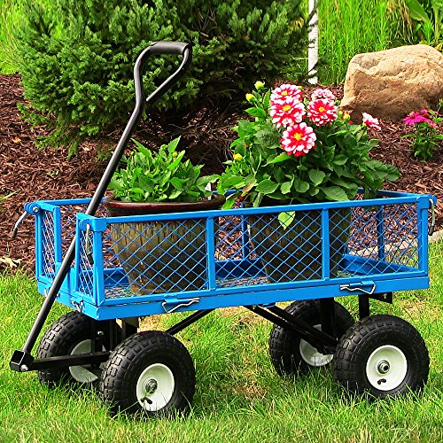 Sunnydaze-Utility-Cart-with-Removable-Folding-Sides-400-Pound-Weight-Capacity-Multiple-Colors-0