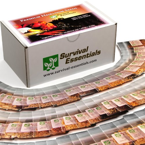 Survival-Essentials-100-Variety-Premium-Heirloom-Non-Hybrid-Non-GMO-Seed-Bank-17880-Seeds-All-In-One-Super-Value-PakVeggies-Fruits-MedicinalCulinary-Herbs-Plus-FREE-Microgreens-Kit-0