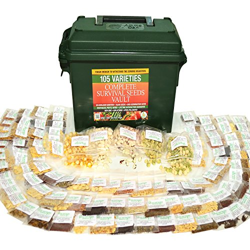 Survival-Seed-Vault-Best-for-Fruit-Herb-and-Vegetable-Storage-Bank-105-Variety-Non-GMO-Non-Hybrid-Heirloom-Seeds-in-30-Cal-Ammo-Box-High-Germination-Success-Emergency-Gardens-Doomsday-Supplies-0