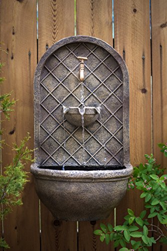 The-Milano-Outdoor-Wall-Fountain-Florentine-Stone-Finish-Water-Feature-for-Garden-Patio-and-Landscape-Enhancement-0-0