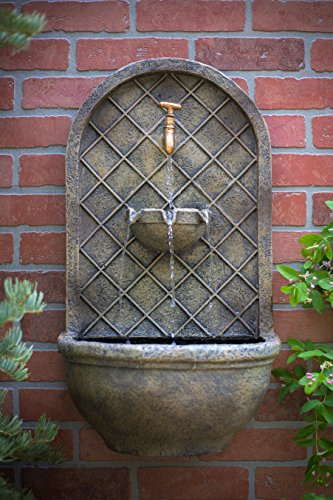 The-Milano-Outdoor-Wall-Fountain-Florentine-Stone-Finish-Water-Feature-for-Garden-Patio-and-Landscape-Enhancement-0