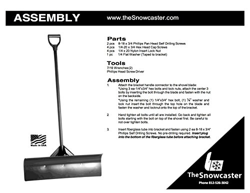 The-Snowcaster-48UPH-Pusher-Shovel-with-Heavy-Duty-Plastic-Blade-Blue-0-0