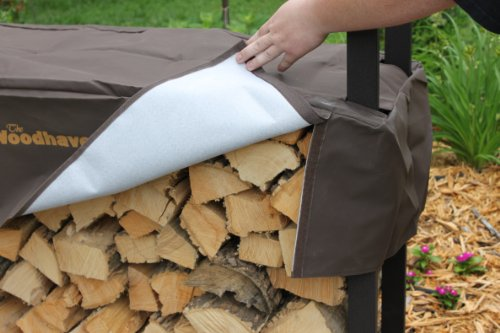 The-Woodhaven-8-Foot-Brown-Firewood-Log-Rack-with-Cover-0-0