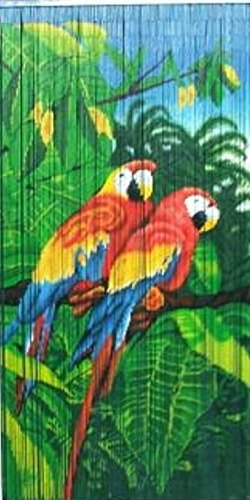 Tropical-Parrot-Print-Beaded-Bamboo-curtain-36W-x-78H-0