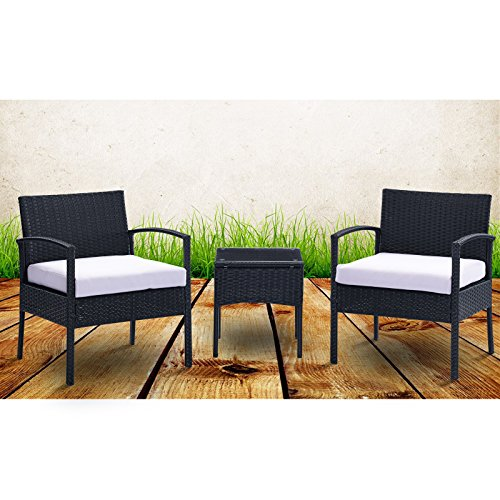 URattan-3PC-Rattan-Wicker-Furniture-Table-Chair-Set-Cushioned-Patio-Outdoor-Garden-0-0