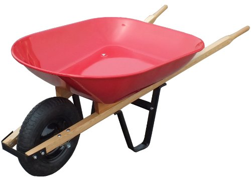 United-General-WH89685-Steel-Tray-Wheelbarrow-4-Cubic-Feet-20-Gallon-0