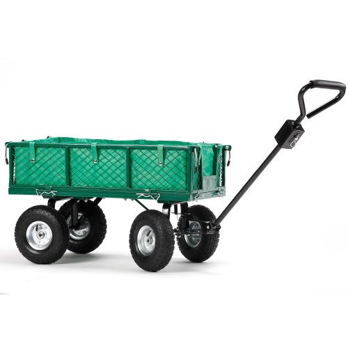 VonHaus-All-Terrain-Heavy-Duty-Garden-Cart-770lbs-Load-Capacity-Folding-Sides-and-10-inch-Off-Road-Tires-0-0