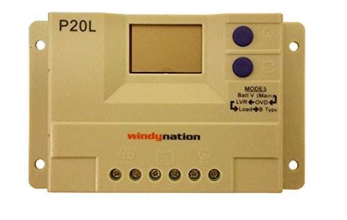 WINDYNATION-Complete-Solar-200-Watt-Panel-Kit-200W-Solar-Panel-20A-LCD-Display-PWM-Charge-Controller-MC4-Connectors-Mounting-Z-Brackets-for-12V-Battery-off-grid-RV-Boat-0-0